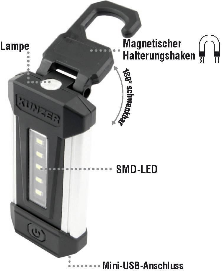 Kunzer PL-051 Smd-LED Arbeitslampe Orange//Aluminium