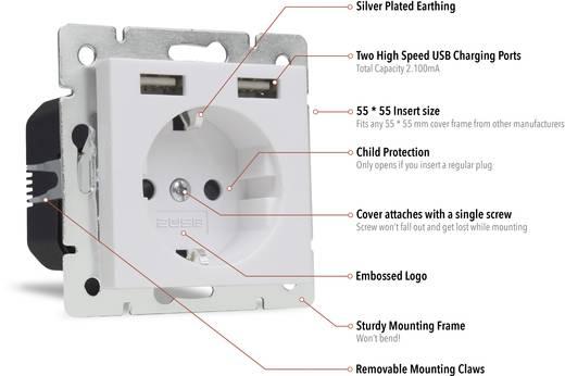 unterputz steckdose mit usb kinderschutz ip20 reinwei 2usb 1493573 kaufen conrad. Black Bedroom Furniture Sets. Home Design Ideas