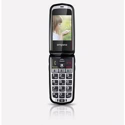 Emporia Comfort telefón pre seniorov - véčko nabíjacej stanice, tlačidlo SOS sivá space