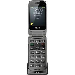 Telme X200 telefón pre seniorov - véčko nabíjacej stanice, tlačidlo SOS sivá space