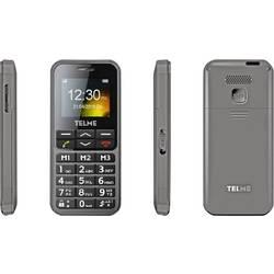 Telme C151 telefón pre seniorov nabíjacej stanice, tlačidlo SOS sivá space