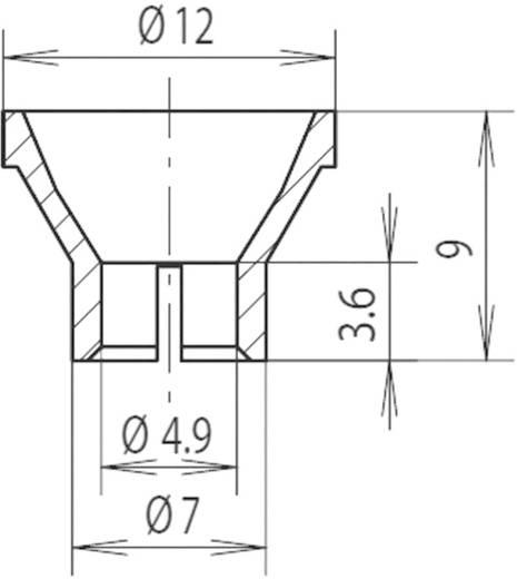 Reflektor Polycarbonat Passend für LED 4.9 mm, Lampe 4.9 mm Mentor 2450.5100
