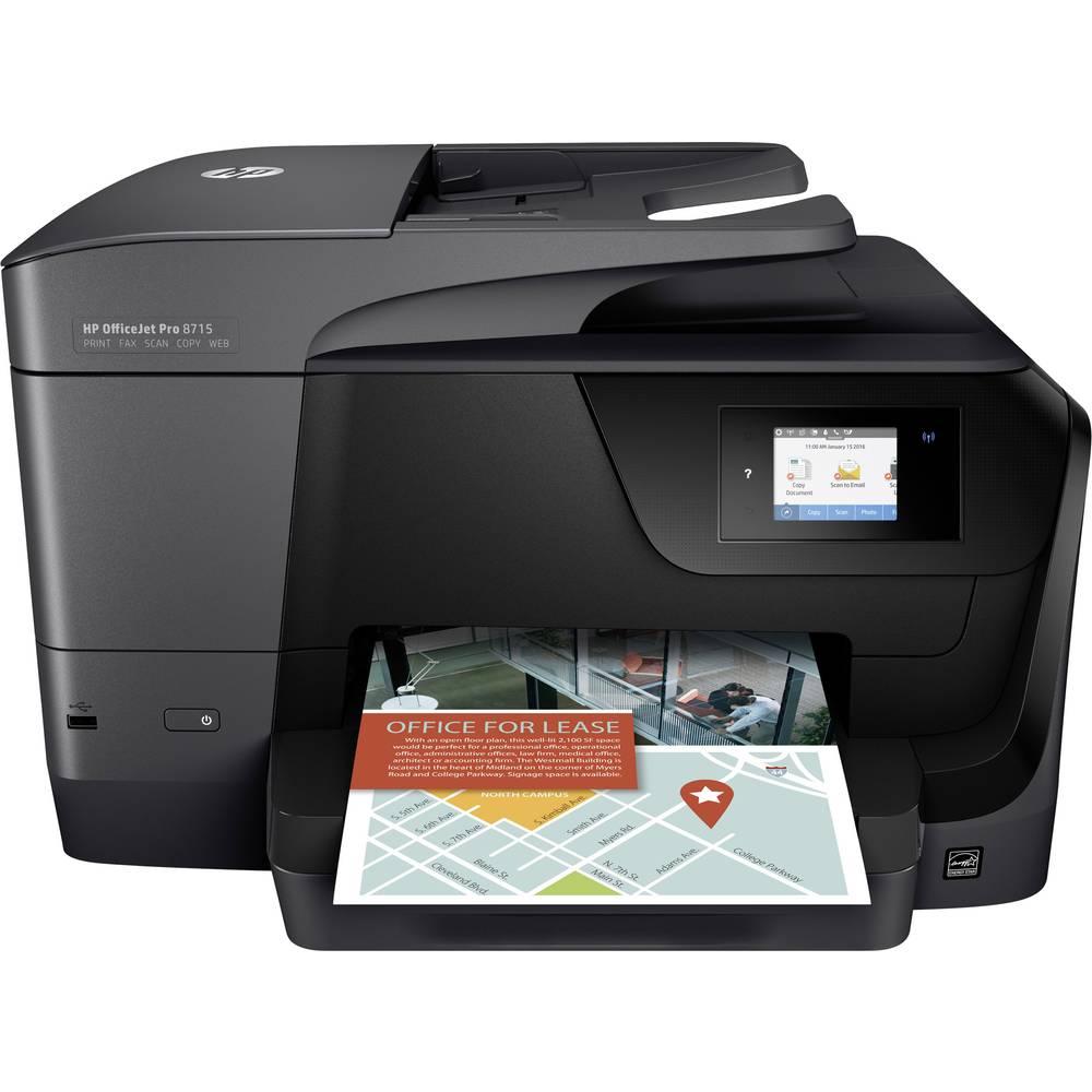 hp officejet pro 8715 all in one tintenstrahl multifunktionsdrucker a4 drucker scanner. Black Bedroom Furniture Sets. Home Design Ideas