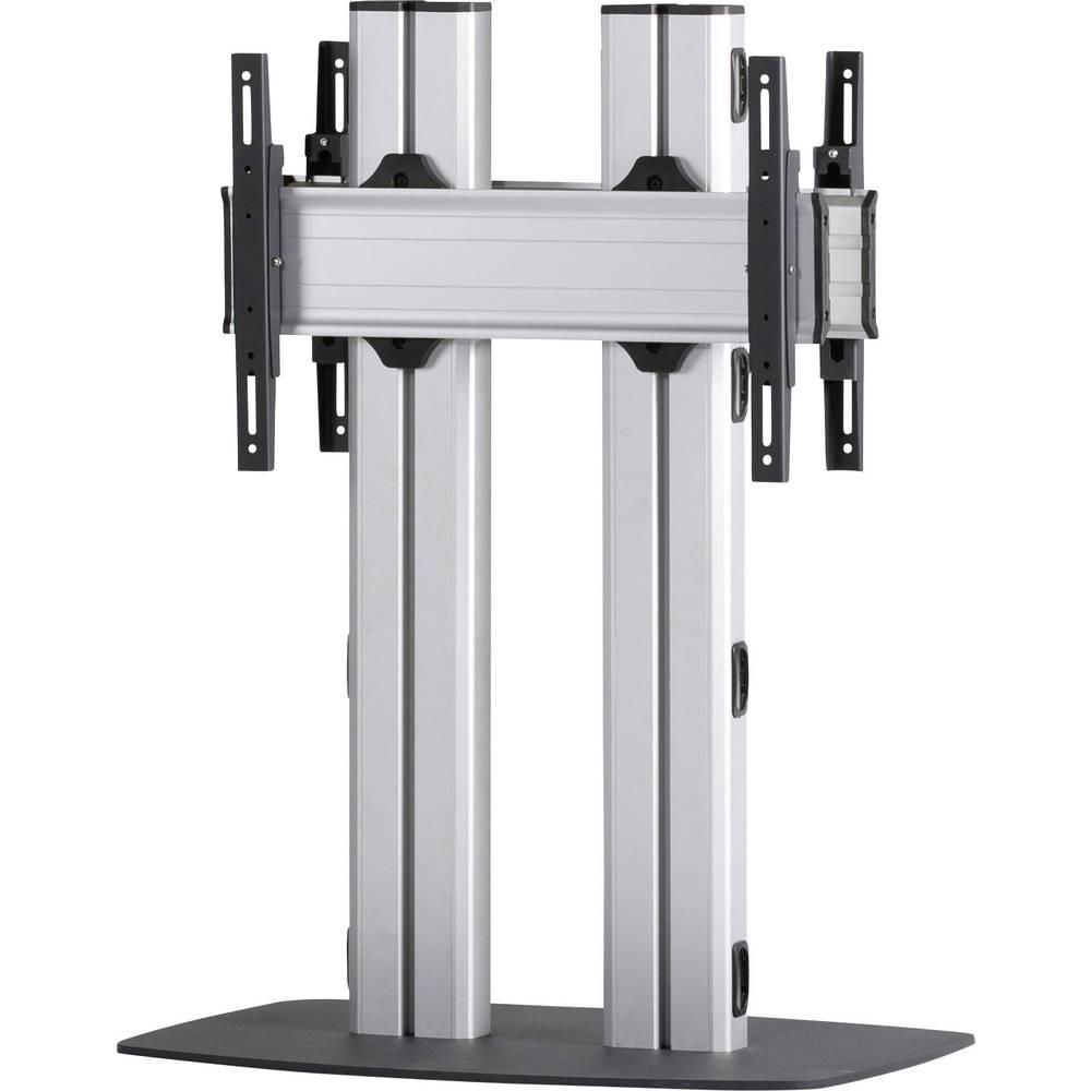 Support sur pied pour écran VCM Morgenthaler FLAT-E-110-D 139,7 cm (55) - 177,8 cm (70) réglable en hauteur, inclinable argent-noir