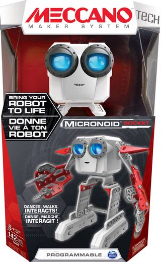 Meccano Tech Micronoid rouge Spielzeug Roboter
