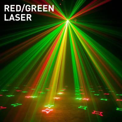 Faretto LED disco con laser ADJ Stinger Gobo Numero di LED:16 x