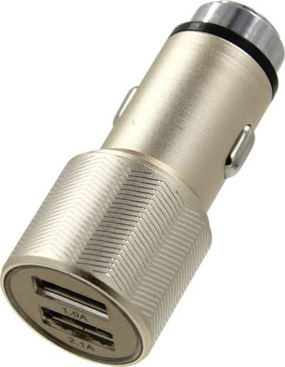 ACE Caricabatterie per auto con 2 porte USB e martello Portata massima corrente=3.1 A Adatto per Accendisigari, USB-A
