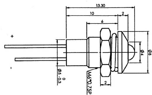 LED-Signalleuchte Rot 2 V 20 mA SCI R9-103L-12-RD