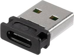 Adaptér USB 2.0 Renkforce [1x USB 2.0 zástrčka A - 1x USB-C™ zásuvka] černá oboustranně zapojitelná zástrčka