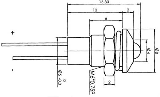 LED-Signalleuchte Grün 2.1 V 20 mA SCI R9-3612, GREEN