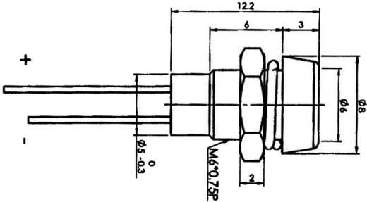 LED-Signalleuchte Grün 2.1 V 20 mA SCI R9-1612, GREEN