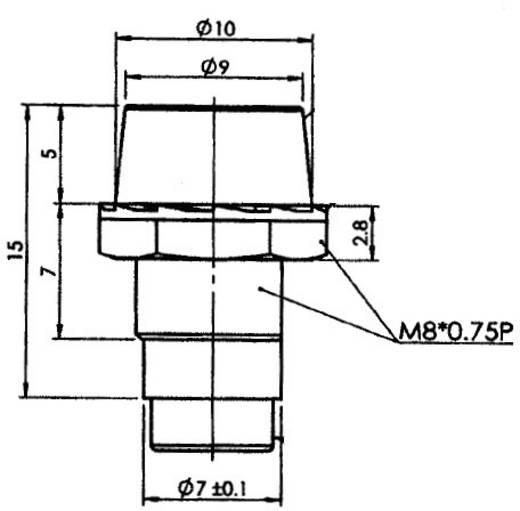 LED-Fassung ABS, Polycarbonat, Gummi Passend für LED 5 mm Schraubbefestigung SCI R9-107L