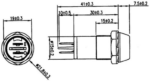 LED-Signalleuchte Grün 12 V/DC SCI R9-106L-01, GREEN