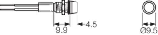 LED-Signalleuchte Rot 24 V/DC Arcolectric L1041OSLAD