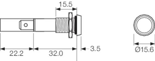 LED-Signalleuchte Grün 24 V/DC Arcolectric C0275OSLAG