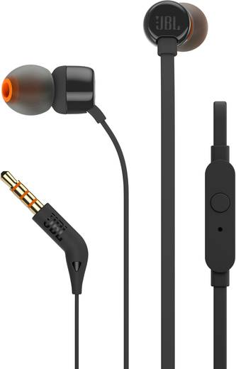 jbl harman t110 kopfh rer in ear headset schwarz. Black Bedroom Furniture Sets. Home Design Ideas