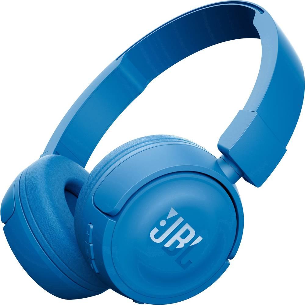 Casque Bluetooth supra-aural JBL Harman T450BT pliable, micro-casque bleu