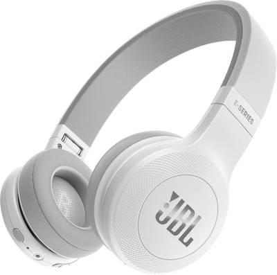 Casque Bluetooth supra-aural JBL Harman E45BT pliable, micro-casque blanc