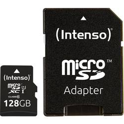 Pamäťová karta micro SDXC, 128 GB, Intenso Premium, Class 10, UHS-I, vr. SD adaptéru