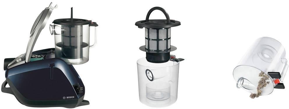 Bagless Vacuum Cleaner Bosch Haushalt BGS5A300 Relaxxu0027x ProSilence Plus EEC  A Silver, ...