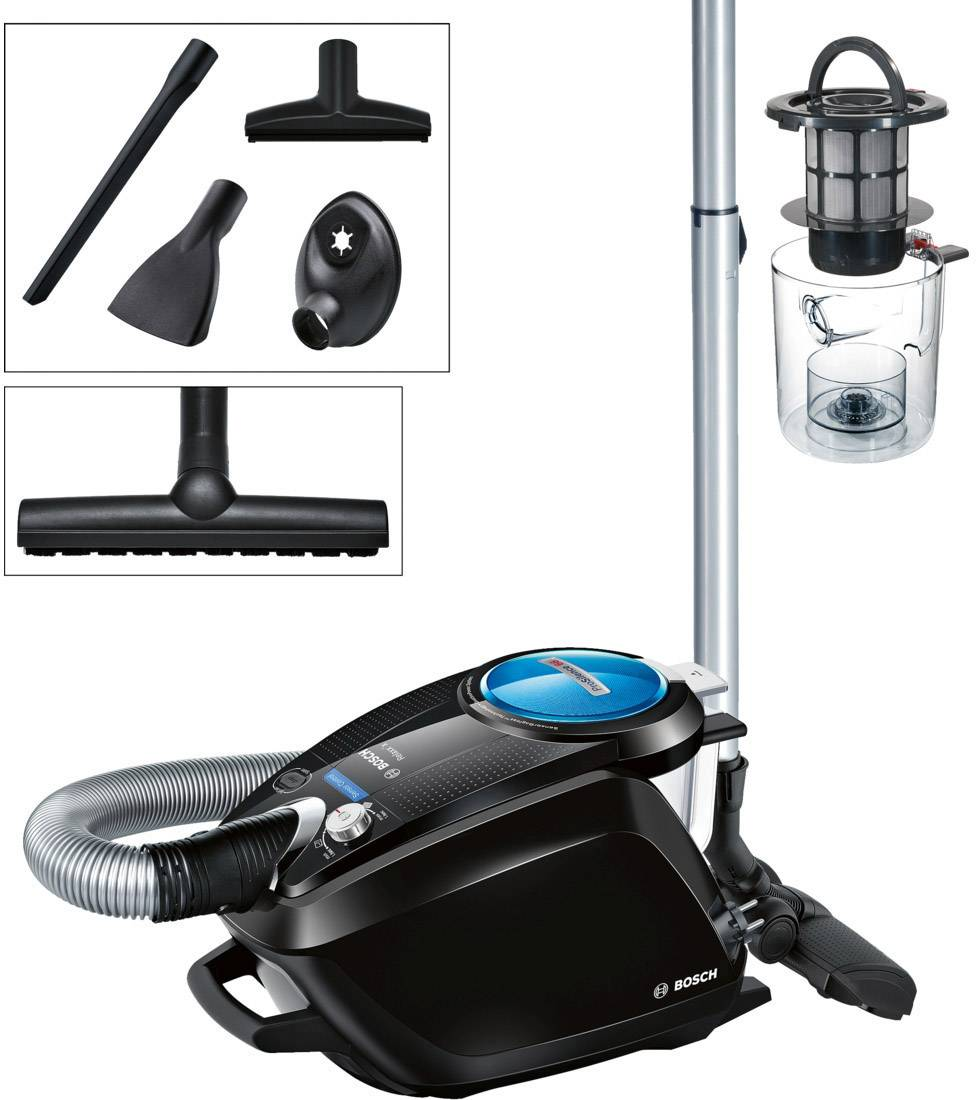 Bagless Vacuum Cleaner Bosch Haushalt BGS5SMRT66 Relaxxu0027x ProSilence66 700  W EEC A Black, Pictures