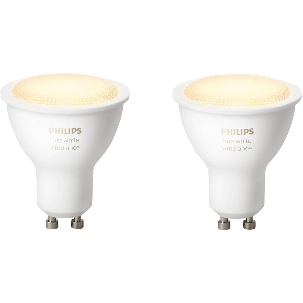philips lighting hue led leuchtmittel 2er set white ambiance gu10 5 5 w warm wei neutral. Black Bedroom Furniture Sets. Home Design Ideas