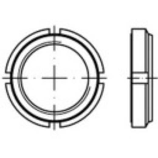 Nutmuttern M60 12 mm Stahl galvanisch verzinkt 1 St. TOOLCRAFT 149939