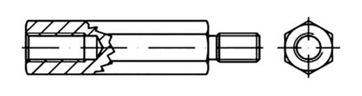 TOOLCRAFT Sechskant-Abstandsbolzen 25 mm Stahl galvanisch verzinkt M6 100 St.