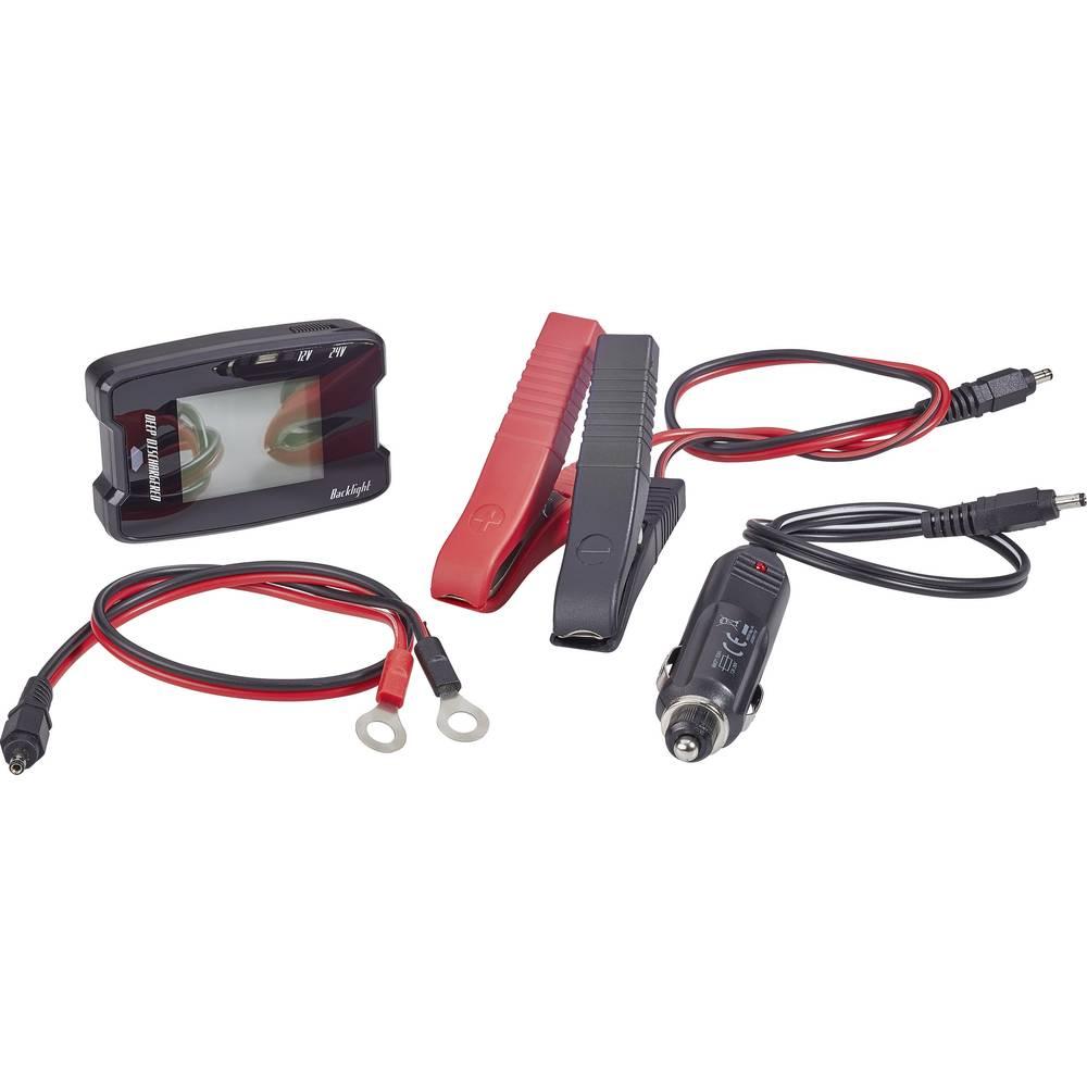 testeur de batterie auto 12 v 24 v basetech mw 336 test d 39 accu 49 mm x 76 mm x 19 mm sur le. Black Bedroom Furniture Sets. Home Design Ideas