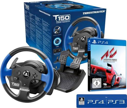 lenkrad thrustmaster tm 150 rs lenkrad inkl assetto usb. Black Bedroom Furniture Sets. Home Design Ideas