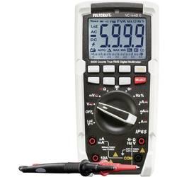 Digitálne/y ručný multimeter VOLTCRAFT VC-440 E VC-440 E-D, Kalibrované podľa (DAkkS), ochrana proti vode (IP65)