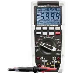 Digitálne/y ručný multimeter VOLTCRAFT VC-460 E VC-460 E-D, Kalibrované podľa (DAkkS), ochrana proti vode (IP65)