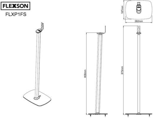 lautsprecher st nder f r sonos play 1 flexson flxp1fs1011. Black Bedroom Furniture Sets. Home Design Ideas