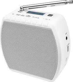 DAB+ rádio do zásuvky Dual DAB STR 100 s Bluetooth a USB nabíječkou mobilů, bílá