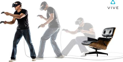 HTC Vive Schwarz Virtual Reality Brille