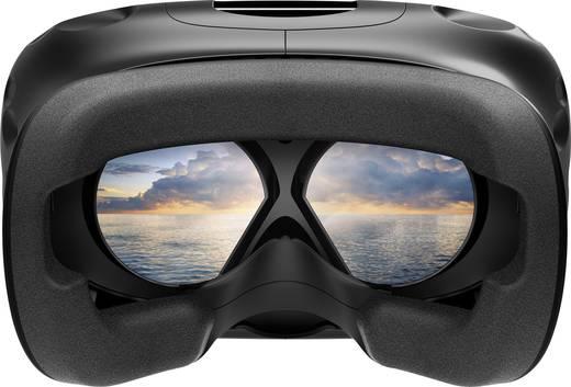 HTC Vive + HTC Vive Deluxe Audioriemen Schwarz Virtual Reality Brille inkl. Bewegungssensoren, inkl. Controller, mit int