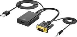 AV adaptér VGA zástrčka, jack zástrčka 3,5 mm ⇒ HDMI zásuvka SpeaKa Professional SP-VK/HD SP-6014508