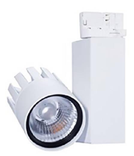 Hochvolt-Schienensystem-Leuchte Universell LED fest eingebaut 30 W LED Opple Performer 3C Weiß