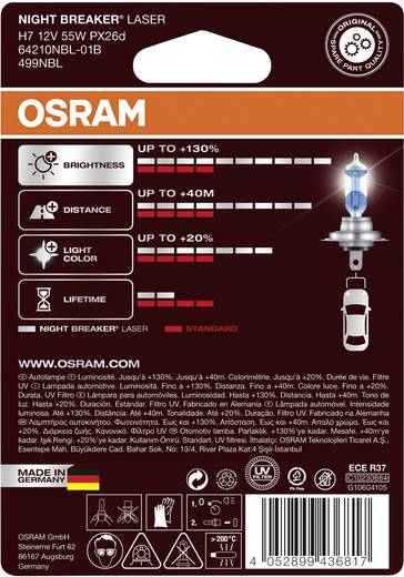 osram halogen leuchtmittel night breaker laser h7 55 w kaufen. Black Bedroom Furniture Sets. Home Design Ideas