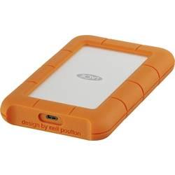 """Externý pevný disk 6,35 cm (2,5"""") LaCie Rugged, 1 TB, USB-C™, strieborná, oranžová"""