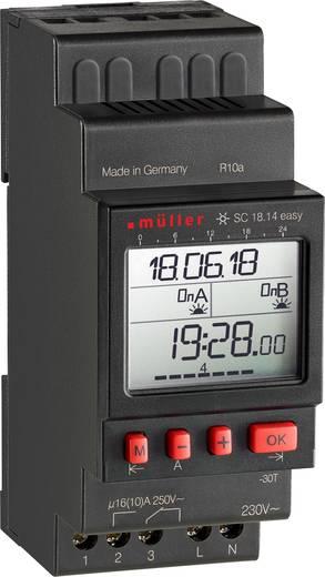 Müller SC 18.14 easy NFC Hutschienen-Zeitschaltuhr digital 230 V 16 A/250 V