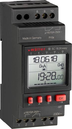 Müller SC 18.24 easy NFC Hutschienen-Zeitschaltuhr digital 230 V 16 A/250 V