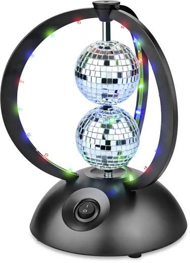 led discokugel set mit led beleuchtung mit motor 65 mm renkforce led double. Black Bedroom Furniture Sets. Home Design Ideas