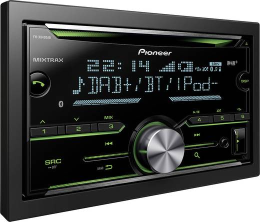 pioneer fh x840dab doppel din autoradio bluetooth. Black Bedroom Furniture Sets. Home Design Ideas