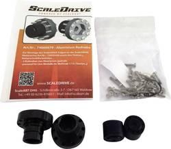 Hliníkový náboj kola pro zadní nápravu ScaleDrive 74000079, 1:14, 1 pár