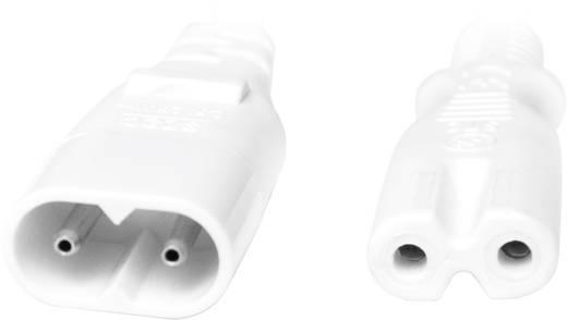 Strom Verlängerungskabel [1x Kleingeräte-Stecker C8 - 1x Kleingeräte-Buchse C7] 2 m Weiß LogiLink