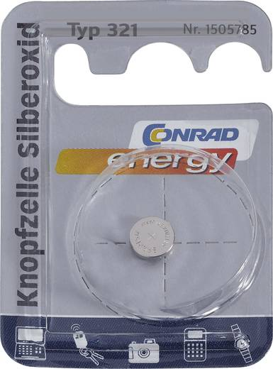 Knopfzelle 321 Silberoxid Conrad energy SR65 14.5 mAh 1.55 V 1 St.