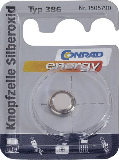 Knopfzelle 386 Silberoxid Conrad energy SR43 130 mAh 1.55 V 1 St.