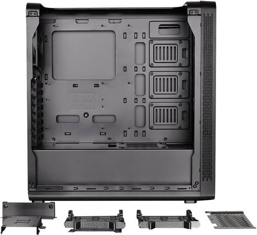Midi-Tower PC-Gehäuse Thermaltake View27 Schwarz 1 vorinstallierter Lüfter, LCS Kompatibel, Seitenfenster