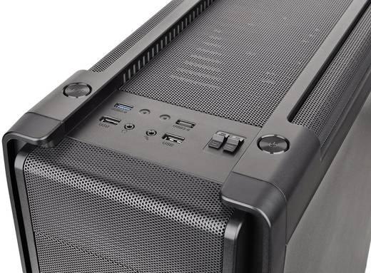 Midi-Tower PC-Gehäuse Thermaltake Versa C21 RGB Schwarz Werkzeugfreie Festplatteninstallation, Integrierte Beleuchtung,